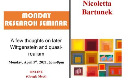"""Seminar cercetare DFT """"A few thoughts on later Wittgenstein and quasi-realism"""""""