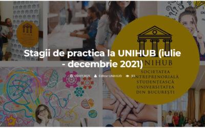 Internship UNIHUB pentru studenți