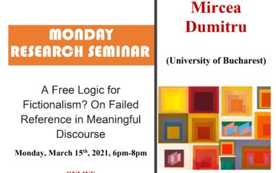 """Seminar cercetare DFT """"A Free Logic for Fictionalism? On Failed Reference in Meaningful Discourse"""""""