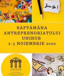 Săptămâna antreprenoriatului în UB – 2-5 noiembrie 2020
